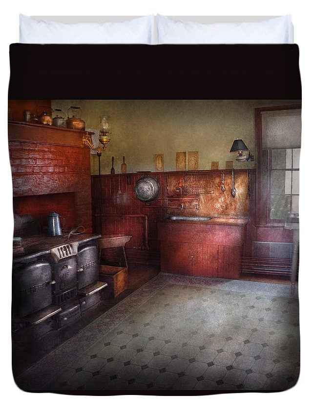 Kitchen - Storybook Cottage Kitchen Duvet Cover