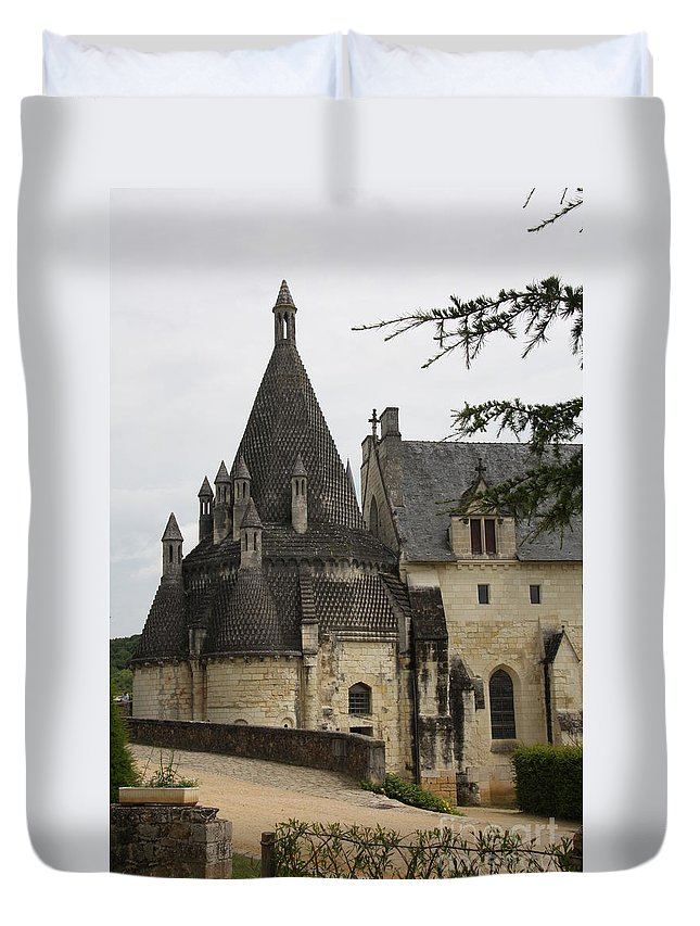 Kitchen Duvet Cover featuring the photograph Kitchenbuilding - Fontevraud by Christiane Schulze Art And Photography