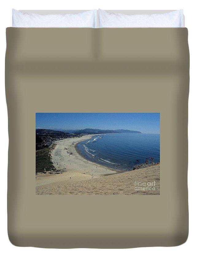Beach Duvet Cover featuring the photograph Kiwanda Beach II by Sharon Elliott
