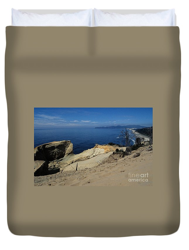 Beach Duvet Cover featuring the photograph Kiwanda Beach by Sharon Elliott