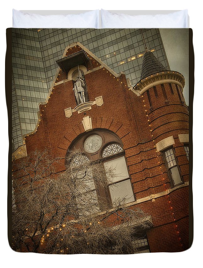 Joan Carroll Duvet Cover featuring the photograph Knights Of Pythias Castle Hall by Joan Carroll