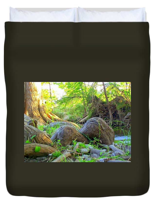 Texas Hill Country Duvet Cover featuring the photograph Knotty by Laurette Escobar