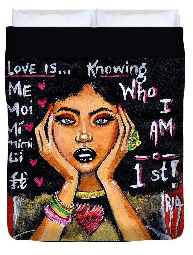 Artbyria Duvet Cover featuring the photograph Know Yourself by Artist RiA