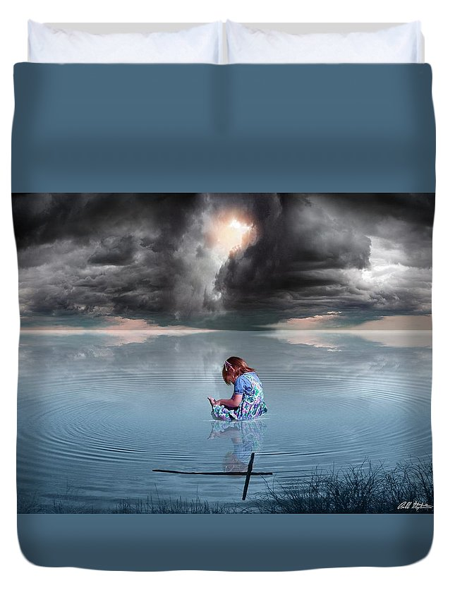 Children Duvet Cover featuring the digital art Known Of Yah by Bill Stephens