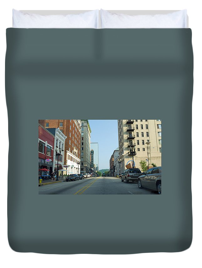 Downtown Knoxville Duvet Cover featuring the photograph Knoxville by Melinda Fawver