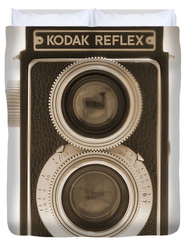 Classic Reflex Camera Duvet Cover featuring the photograph Kodak Reflex Camera by Mike McGlothlen