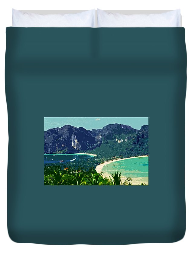 Asien Duvet Cover featuring the photograph Koh Phi Phi ... by Juergen Weiss