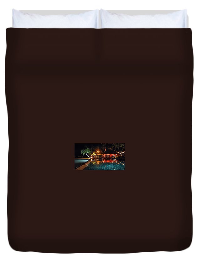 3scape Duvet Cover featuring the photograph Koh Samui Beach Resort by Adam Romanowicz
