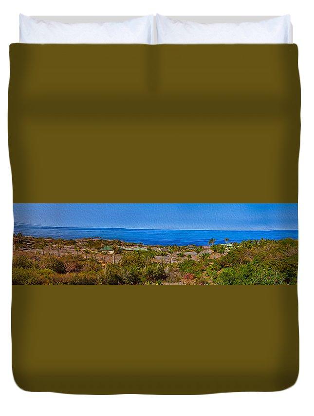 Big Island Duvet Cover featuring the photograph Kohala Coast Panorama by Omaste Witkowski