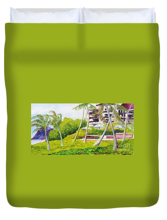 Koolina Duvet Cover featuring the painting Koolina 1 by Jeffrey Williams
