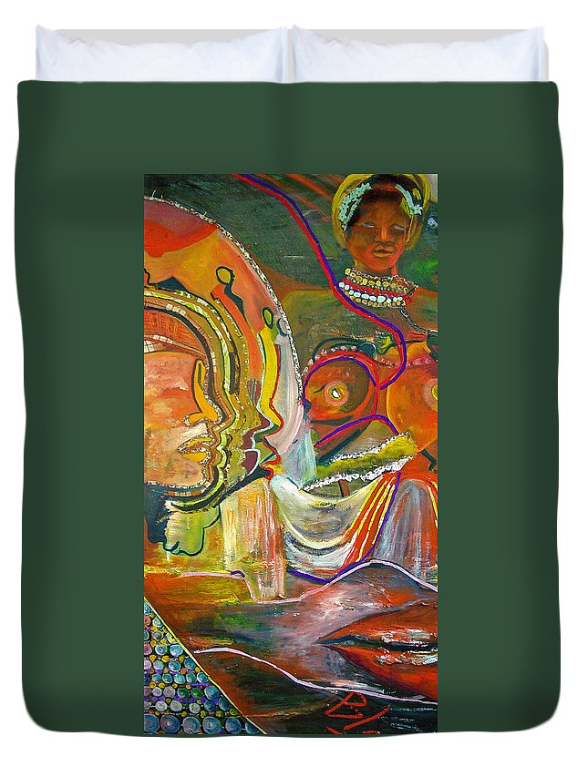 Impressionism Duvet Cover featuring the painting Koulikoro Woman by Peggy Blood