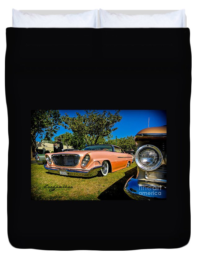 Customikes Duvet Cover featuring the photograph Kustoms by Customikes Fun Photography and Film Aka K Mikael Wallin