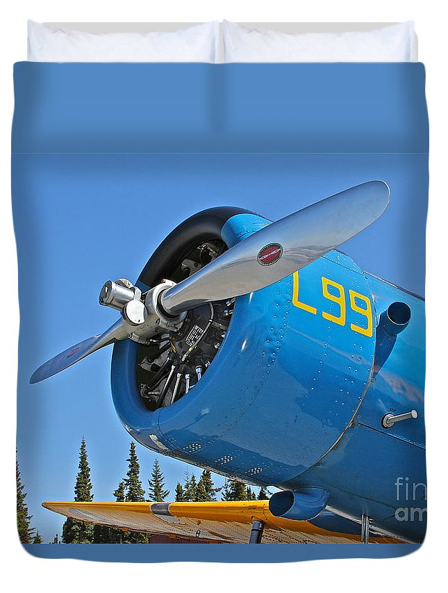 Aircraft Duvet Cover featuring the photograph L99 by Rick Monyahan