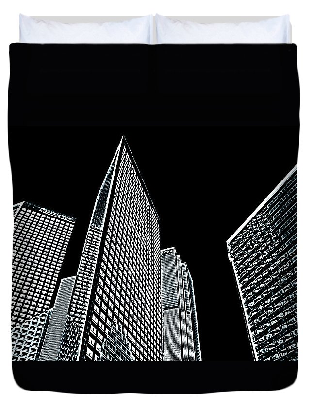 Cityscape Duvet Cover featuring the photograph La 0412 by Andre Aleksis
