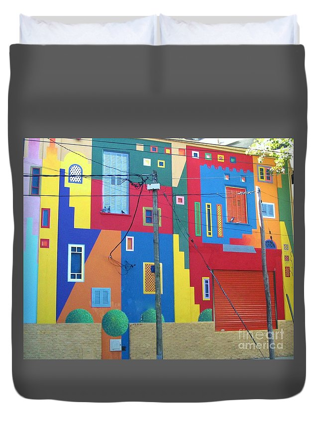 La Boca Duvet Cover featuring the photograph La Boca Buenos Aires by Graciela Castro