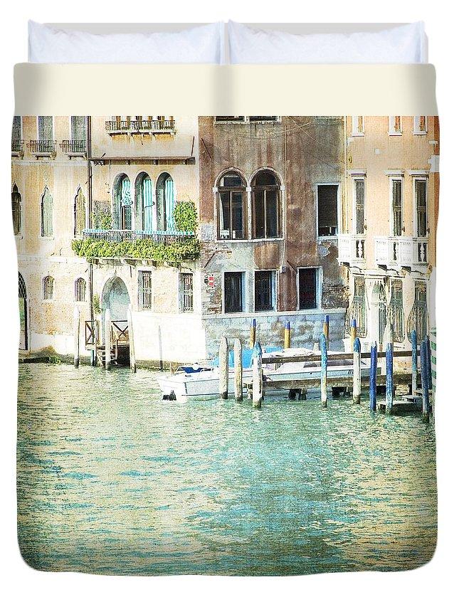 Venice Duvet Cover featuring the photograph La Canal - Venice by Lisa Parrish