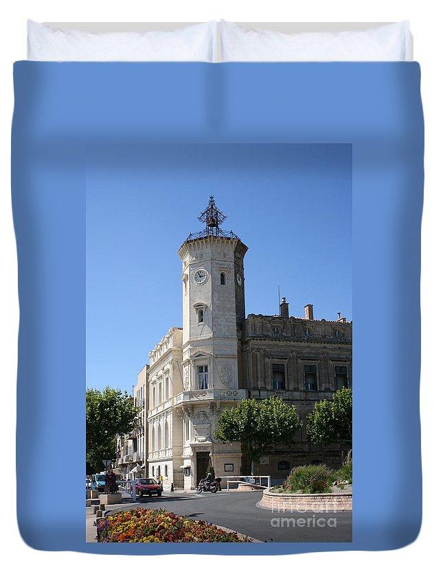 City Hall Duvet Cover featuring the photograph La Ciotat Provence- Alpes- Cote D'azur by Christiane Schulze Art And Photography