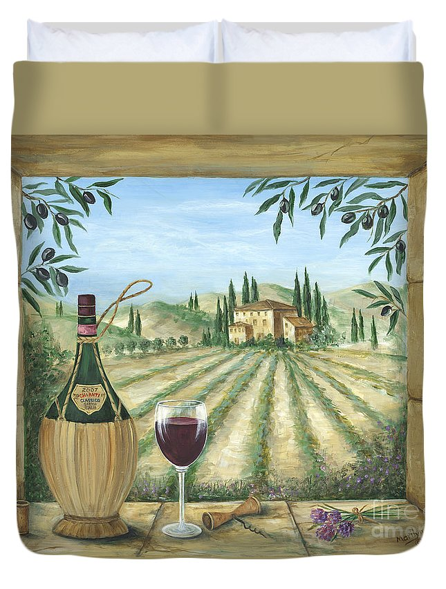 Tuscany Duvet Cover featuring the painting La Dolce Vita by Marilyn Dunlap
