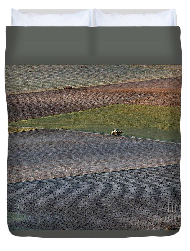 Landscape Duvet Cover featuring the photograph La Mancha Landscape - Spain Series-siete by Heiko Koehrer-Wagner