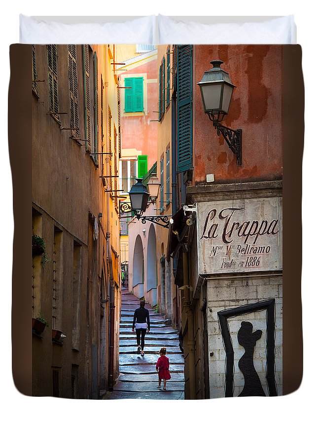 Cote D'azur Duvet Cover featuring the photograph La Trappa by Inge Johnsson