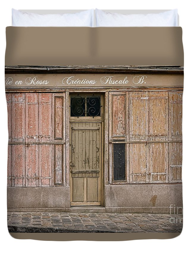 Old Duvet Cover featuring the photograph La Vie En Roses Is Closed by Olivier Le Queinec