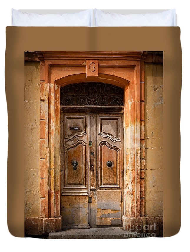 Arles Duvet Cover featuring the photograph La Vieille Porte by Inge Johnsson