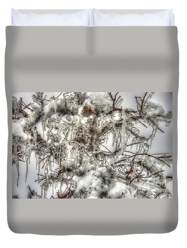 Tree Duvet Cover featuring the photograph Labyrinth Of Ice by M Dale