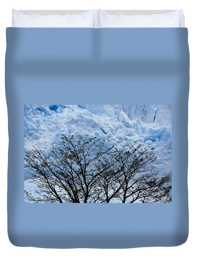 Argentina Duvet Cover featuring the photograph Lace On Blue by Michele Burgess