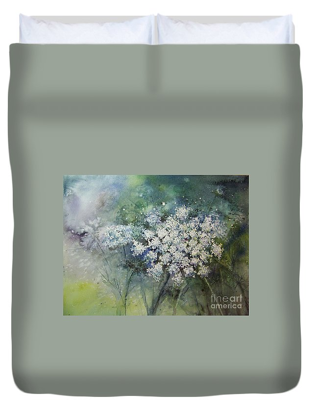 Queen Anne Duvet Cover featuring the painting Lace by Patricia Henderson