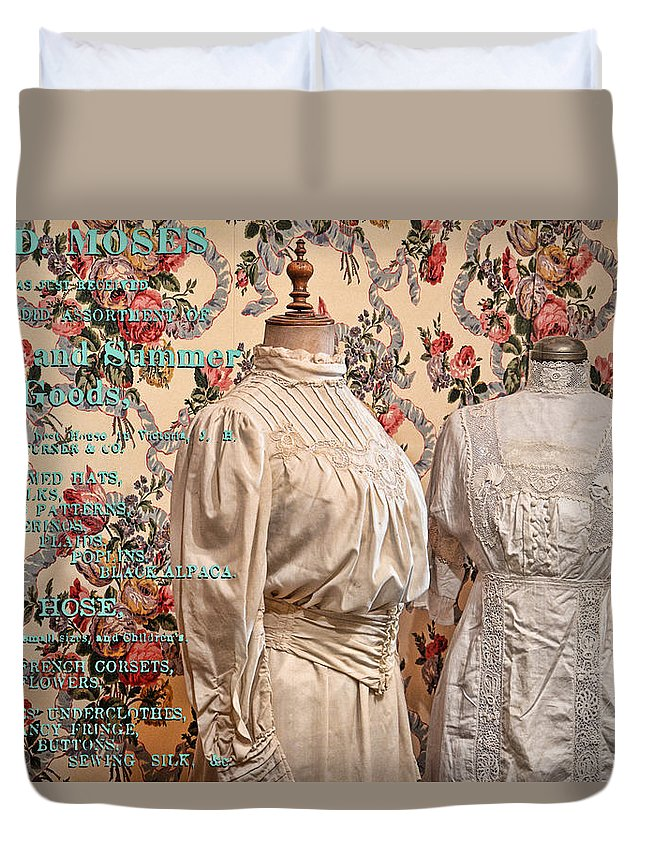 Fashion Duvet Cover featuring the photograph Ladies' Wear by Ed Hall