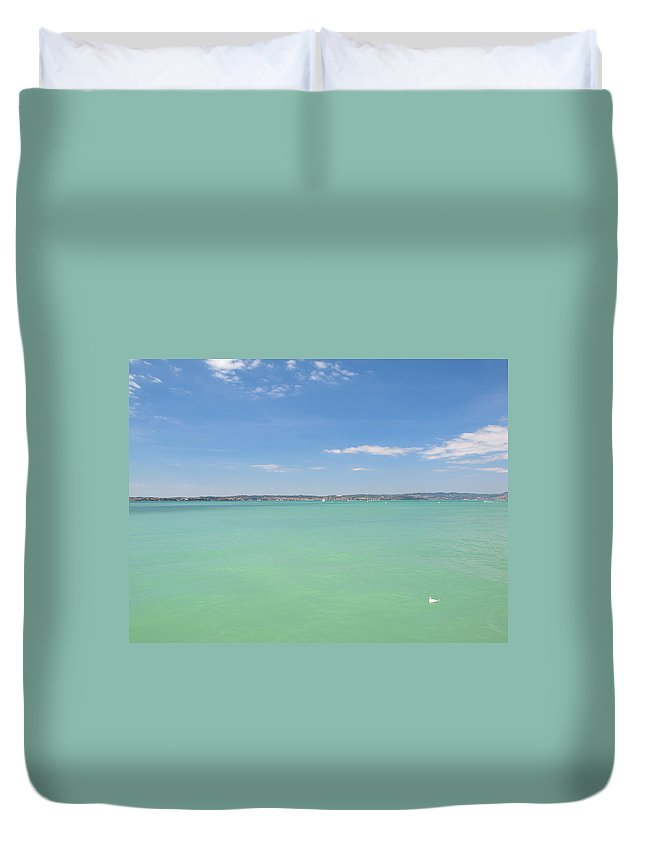 Scenics Duvet Cover featuring the photograph Lago Di Garda by Goranstimac