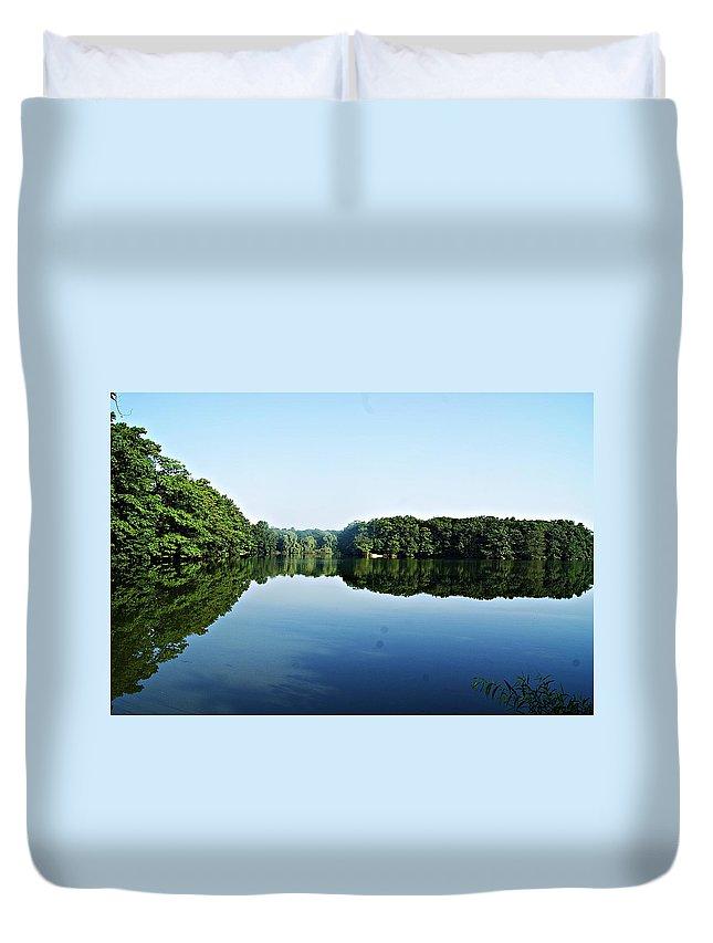 Lagoon Duvet Cover featuring the photograph Lagoon II by Joe Faherty
