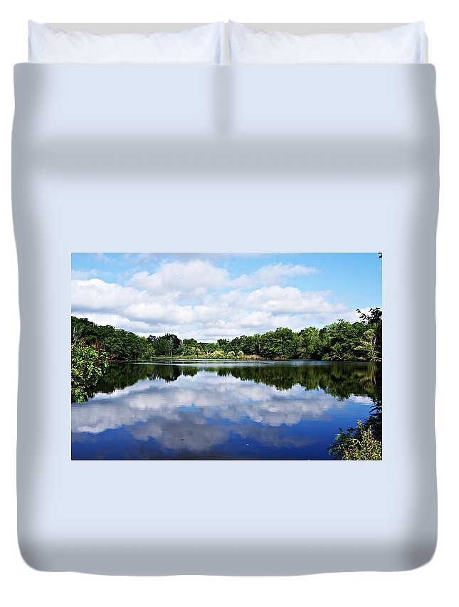 Lagoon Duvet Cover featuring the photograph Lagoon IIi by Joe Faherty