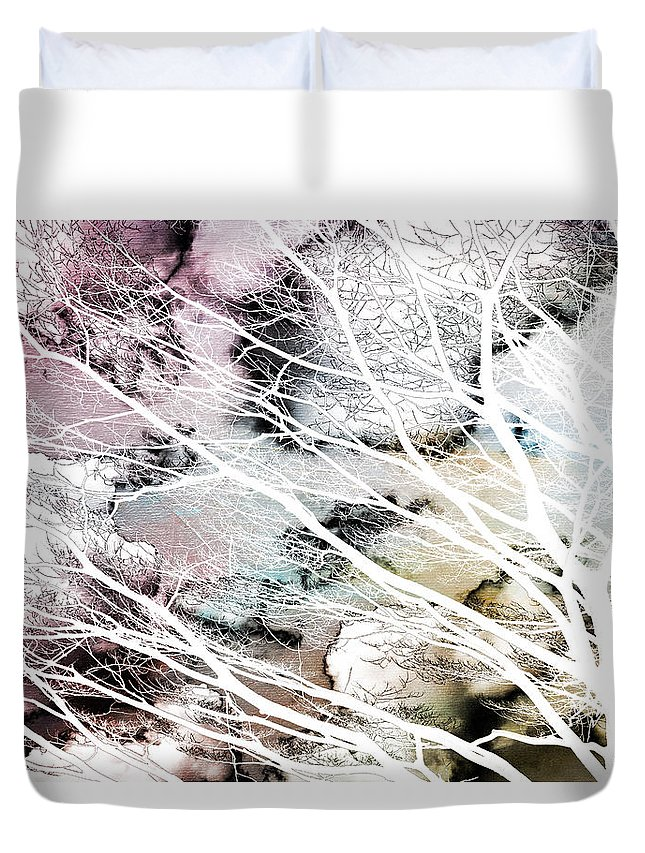 Botanicals Duvet Cover featuring the photograph Laid Bare by Linda Dunn