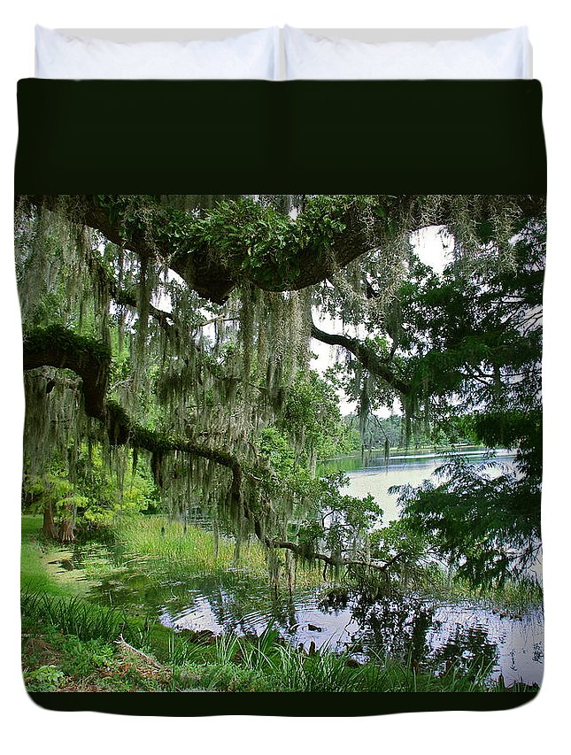 Landscape Duvet Cover featuring the photograph Lake Cherokee by Denise Mazzocco