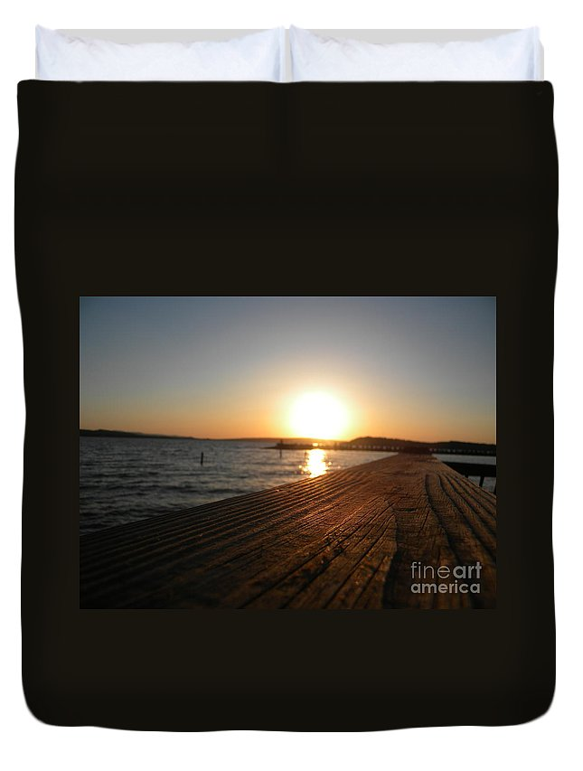 Lake Duvet Cover featuring the photograph Lake D Sunset by Nathanael Smith