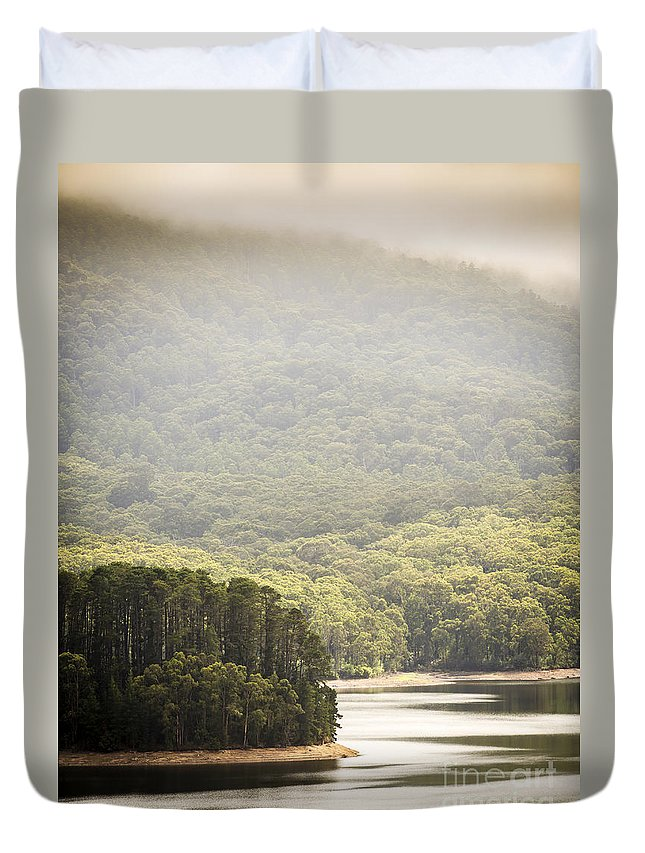 Lake Duvet Cover featuring the photograph Lake Forest by Tim Hester
