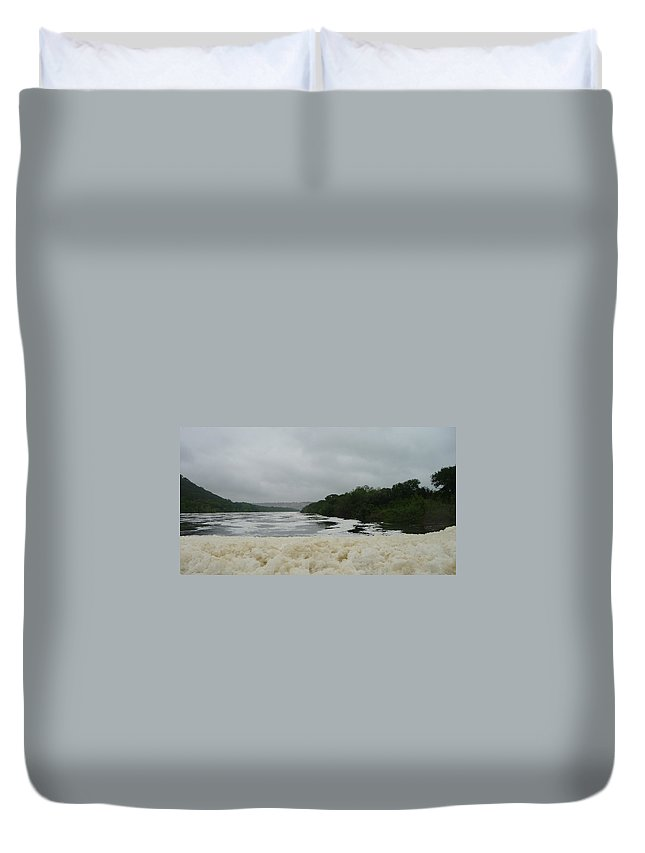 Froth Duvet Cover featuring the photograph Lake Froth by Jackie Austin