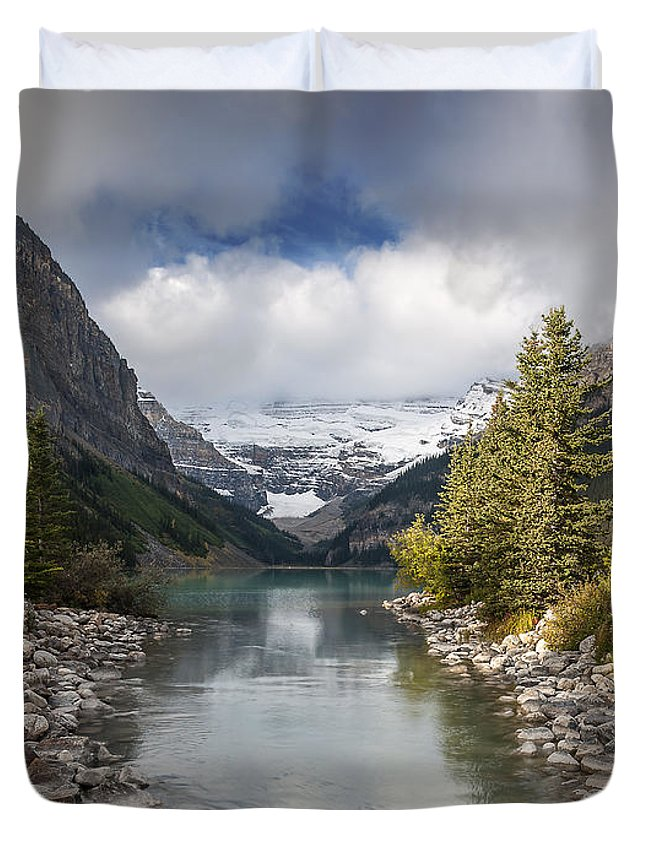 Lake Louise Duvet Cover featuring the photograph Lake Louise by Cenwyn Jones