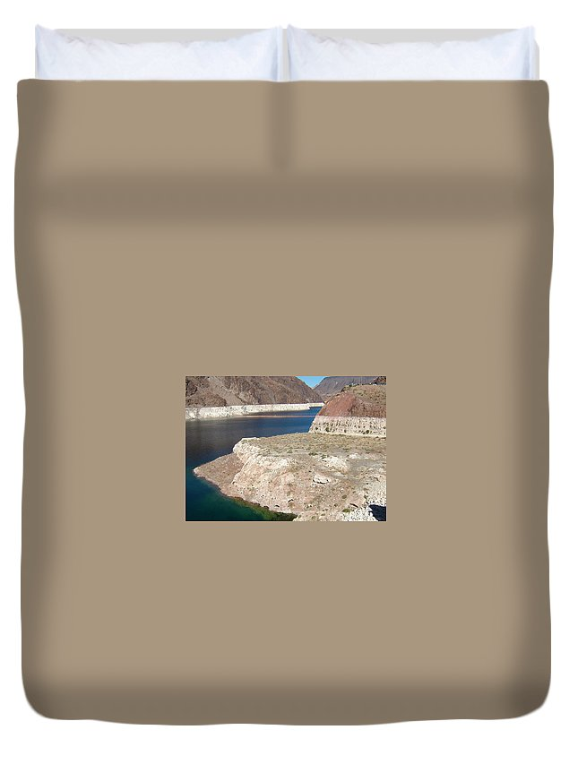 Lake Mead Duvet Cover featuring the photograph Lake Mead In 2000 by Susan Wyman