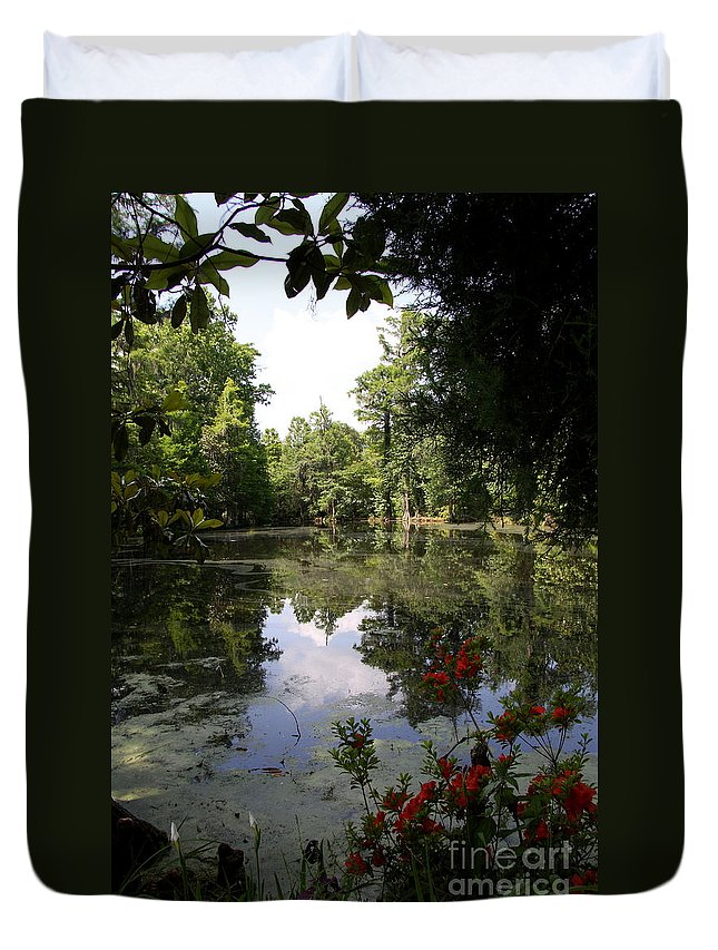 Ake Duvet Cover featuring the photograph Lake On The Plantation by Christiane Schulze Art And Photography