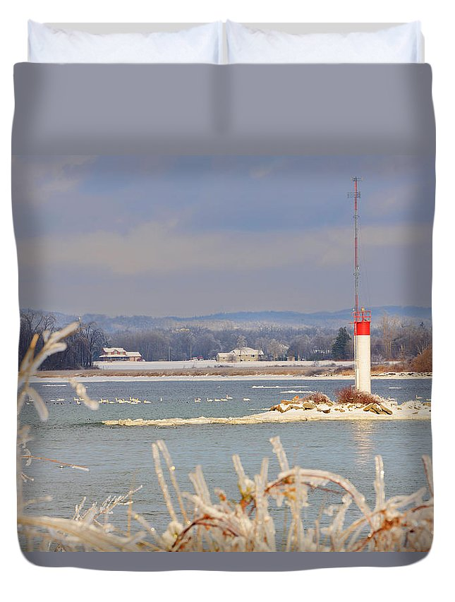 Lake Ontario Duvet Cover featuring the photograph Lake Ontario In Winter by Louise Heusinkveld