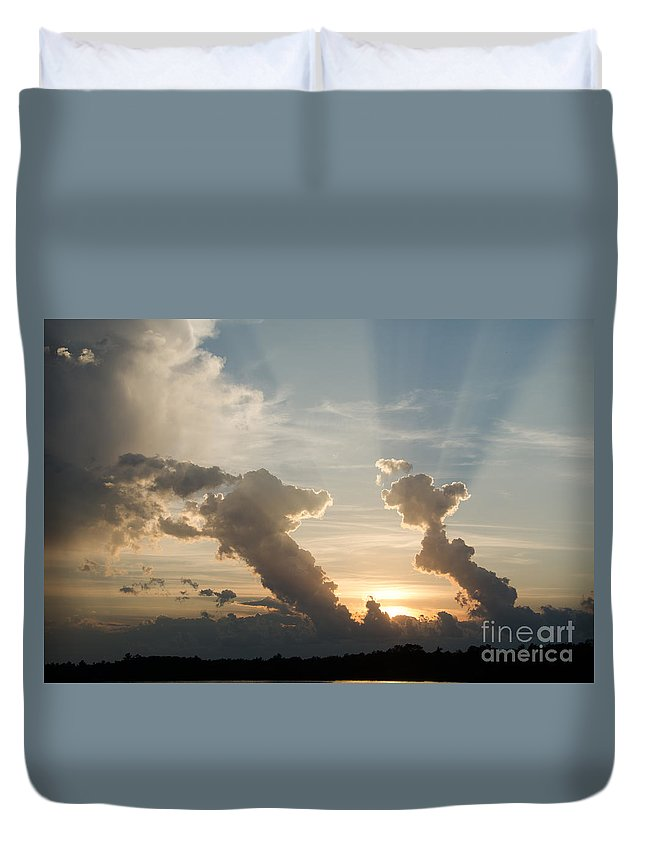 Ice Duvet Cover featuring the photograph Lake Sunset 10 by Cassie Marie Photography