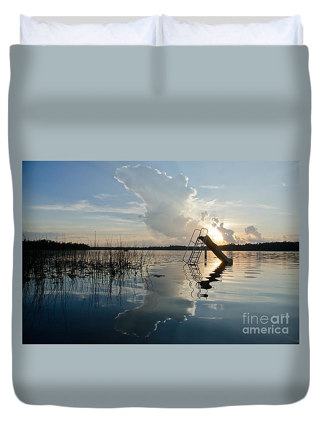 Ice Duvet Cover featuring the photograph Lake Sunset 5 by Cassie Marie Photography