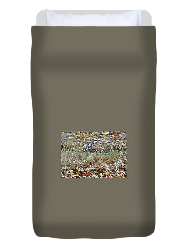 Lakeshore Rocks Duvet Cover featuring the photograph Lakeshore Rocks 2 by Lydia Holly