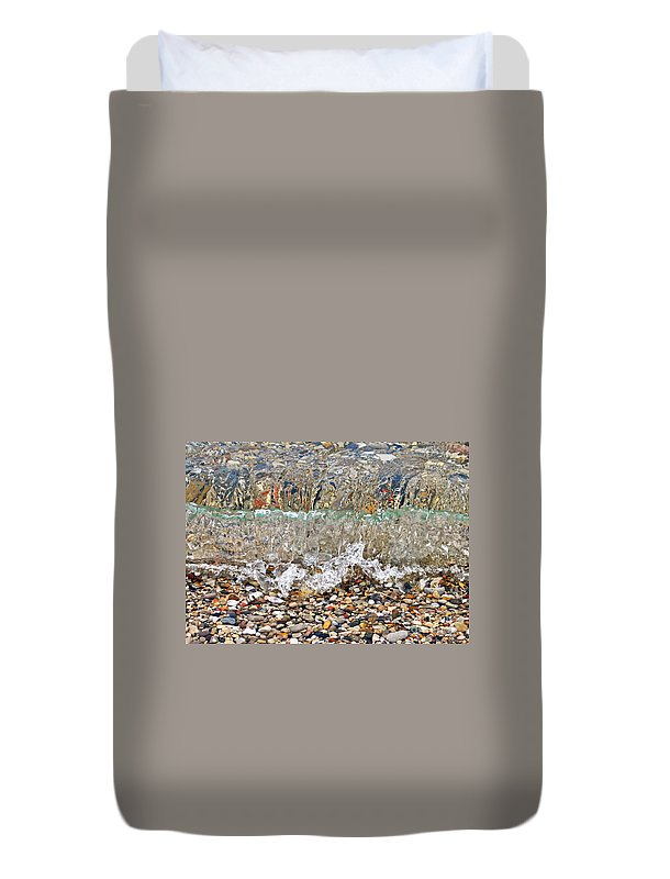 Lakeshore Rocks Duvet Cover featuring the photograph Lakeshore Rocks 3 by Lydia Holly