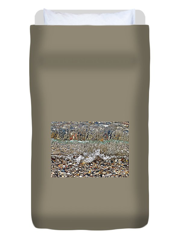 Lakeshore Rocks Duvet Cover featuring the photograph Lakeshore Rocks 4 by Lydia Holly