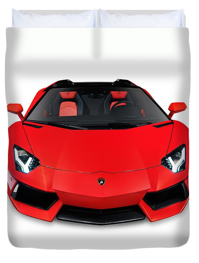 Lamborghini Aventador Lp 700 4 Roadster Sports Car Front View Duvet
