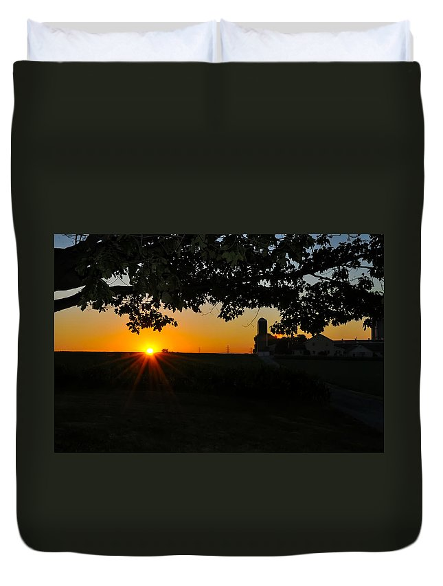 Lancaster Duvet Cover featuring the photograph Lancaster County Morning by Bill Cannon