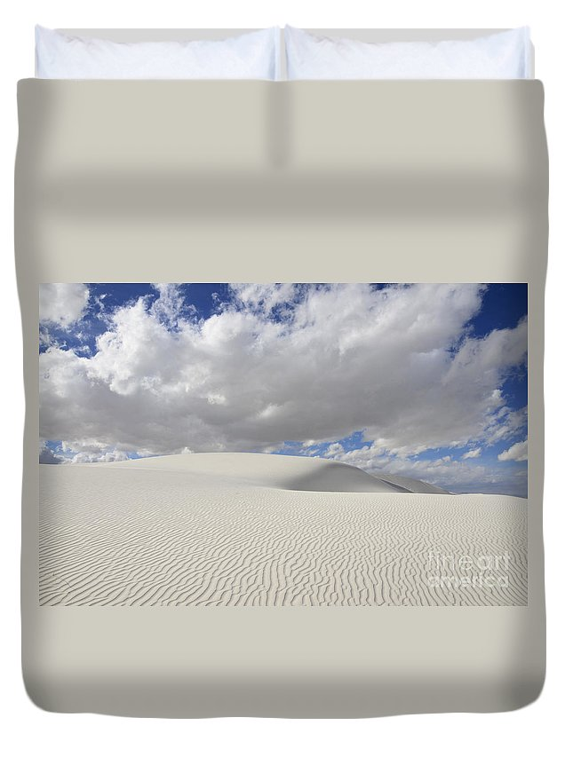White Sand Dunes Duvet Cover featuring the photograph New Mexico Land Of Dreams 3 by Bob Christopher